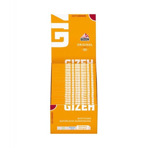Gizeh Papier Classic (gelb) 50 Packs à 50 Blättchen