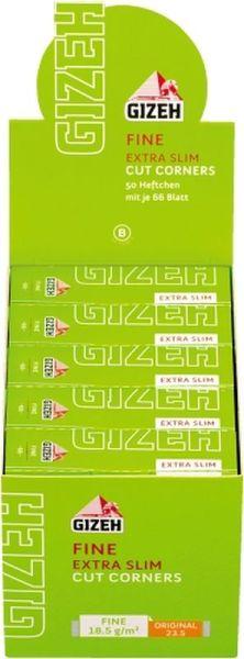 Gizeh Papier Fine Extra Slim (grün) 50 Packs à 66 Blättchen online kaufen