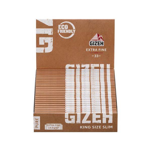 Gizeh Papier Pure King Size Slim 25 Packs à 33 Blättchen online kaufen