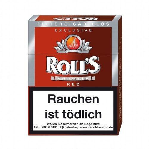Roll's Exclusive Red Natur-Deckblatt 8 x 23 Filter Zigarillos online kaufen