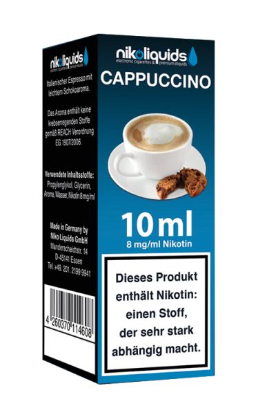eLiquid Cappuccino 10 ml 8mg Nikotin online kaufen