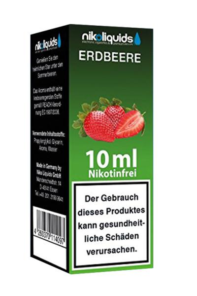 eLiquid Erdbeere 10 ml Nikotinfrei online kaufen