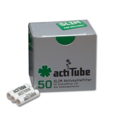 Acti Tube Slim 7mm Aktivkohlefilter 50 Stück