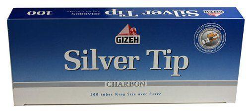 Gizeh Silver Tip Charbon 1.000 Hülsen