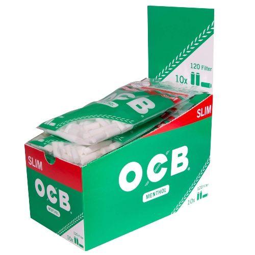 OCB Menthol Filter Slim 10 Packs à 120 Tips