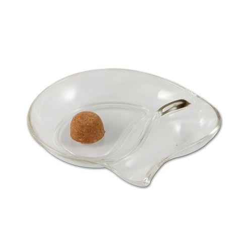Pfeifenascher Glas klar oval 1 Ablage