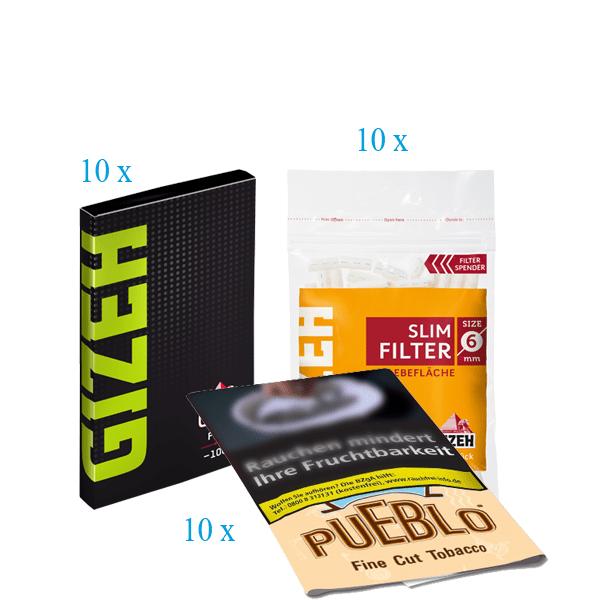 Pueblo Angebot #1 [10 x Pueblo Classic 30g + 10 x Gizeh Slim Filter + 10 x Gizeh Papier Fine mit Magnet]