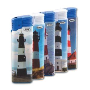 Einwegfeuerzeug Piezo ATOMIC Leuchttürme Steller mit 50 Stück online kaufen