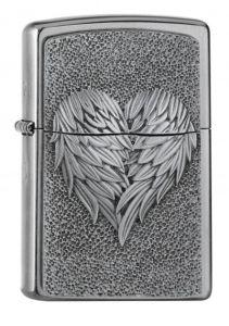 Feuerzeug Zippo - Emblem Heart of Feathers