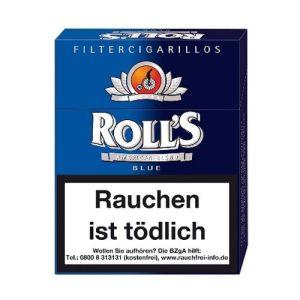 Rolls Filter Cigarillos Blau Full Flavour mit Naturdeckblatt 23 Filter Zigarillos online kaufen