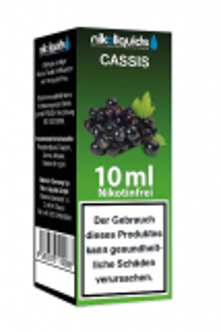 eLiquid Cassis (schwarze Johannisbeere) 10 x 10 ml Nikotinfrei online kaufen