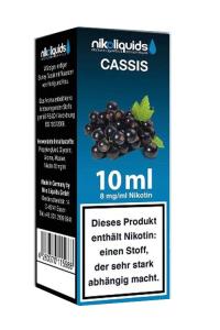 eLiquid Cassis (schwarze Johannisbeere) 10 x 10 ml 8mg online kaufen