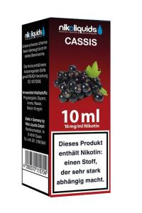 eLiquid Cassis (schwarze Johannisbeere) 10 x 10 ml 16mg online kaufen
