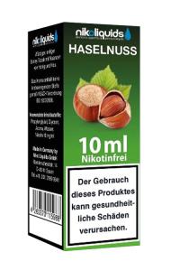 eLiquid Haselnuss 10 ml Nikotinfrei online kaufen