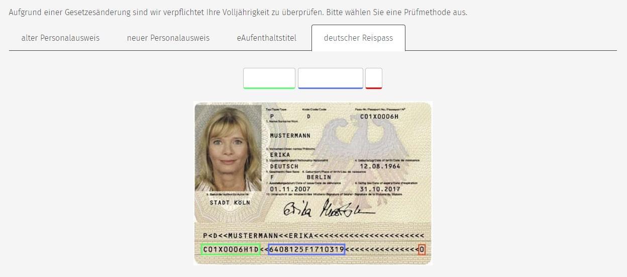 Vorderseite Personalausweis